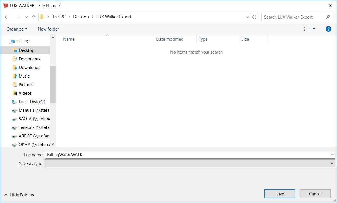 SketchUp to VR folder