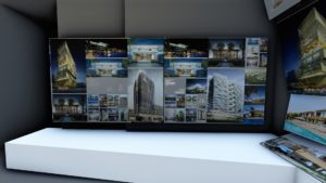 Exhibition display in VR