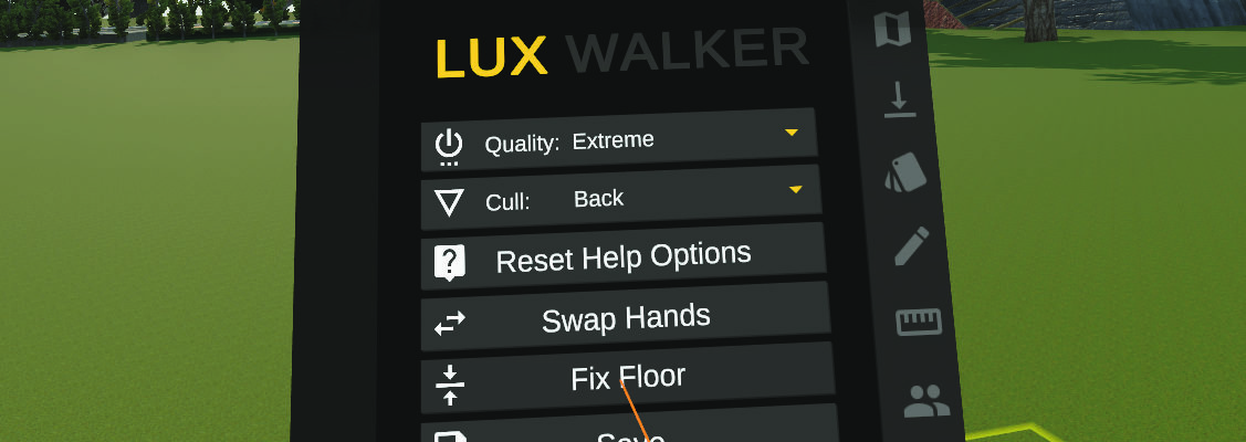 Floor Fix in LUX Walker VR