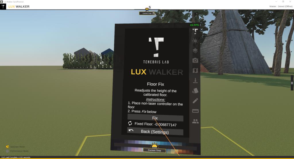 Floor Fix in LUX Walker